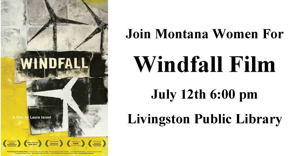 Windfall Film July 12th 6:00 pm Livingston Public Library